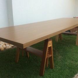 Tampo mesa madeira 2,75m