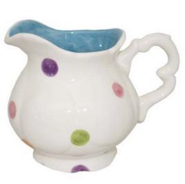Mini jarra de poá branco/colorido