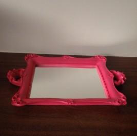 Bandeja espelho pink