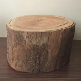 Tronco alto de madeira 38cm