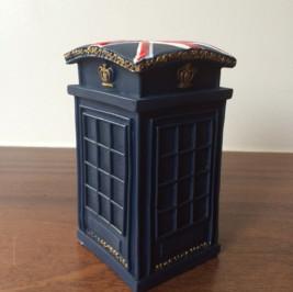 Cabine telefônica resina azul