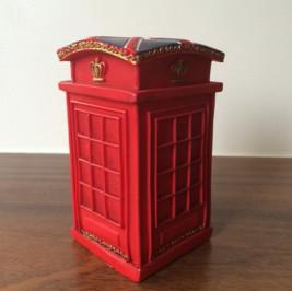 Cabine telefônica resina vermelha