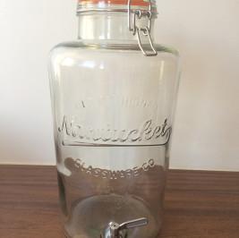 Suqueira vidro 9,5 litros