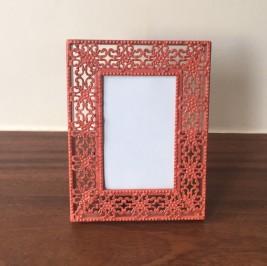 Porta retrato metal coral