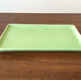 Bandeja cerâmica verde limão