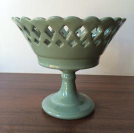 Taça Rechilie com pé verde celadon