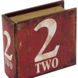 Caixa Number 2 Vermelha