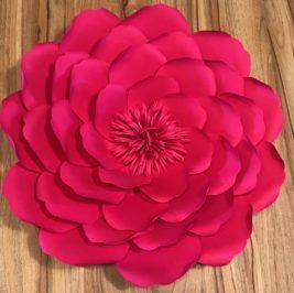 Flor de Papel Pink 40cm