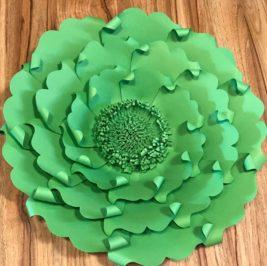 Flor de Papel Verde 40cm