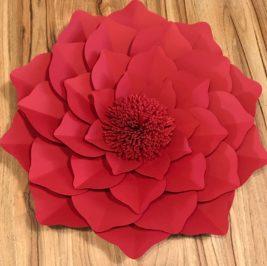 Flor de Papel Vermelho 40cm