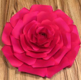 Flor de Papel Pink 30cm