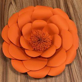 Flor de Papel Laranja 30cm