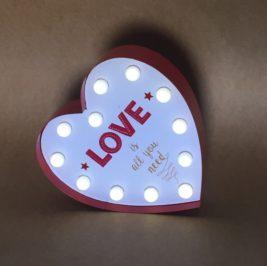 Luminoso Coração Love