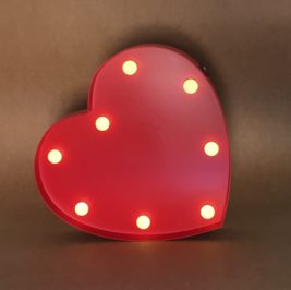 Luminoso Coração Vermelho