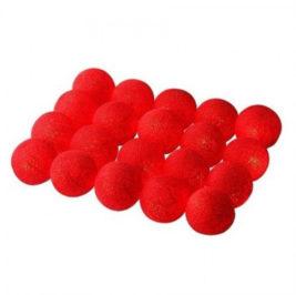 Cordão de Luz Vermelho com 20 leds à pilha