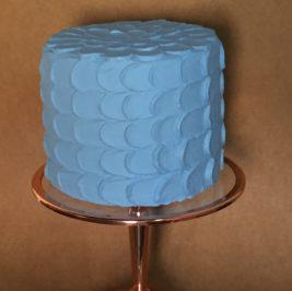 Bolo Fake Escama Azul