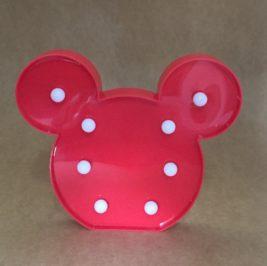 Luminoso Mickey/Minnie Vermelho